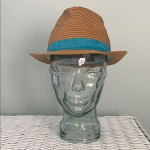 Super Cute Tan & Blue Bucket Hat